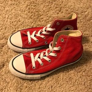 NWOT Converse All Star Red High Top Sneakers